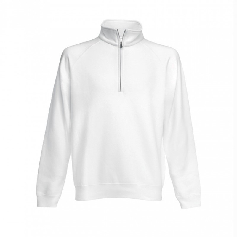 Hanorac CLASSIC ZIP NECK SWEAT MEN alb