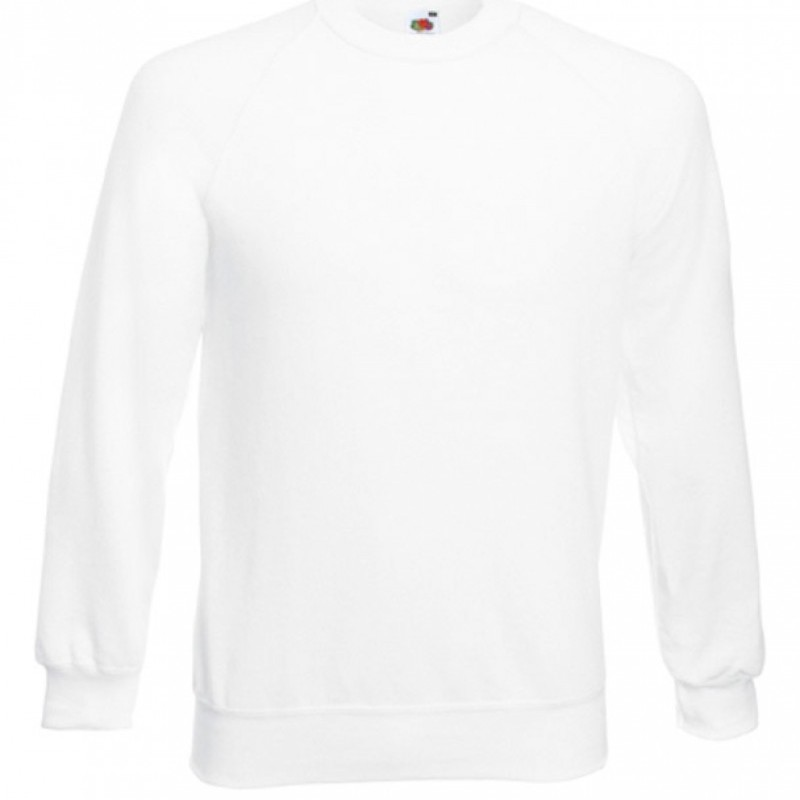 Hanorac CLASSIC RAGLAN SWEAT MEN alb