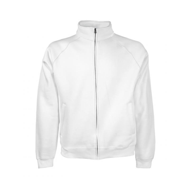 Hanorac CLASSIC SWEAT JACKET MEN alb